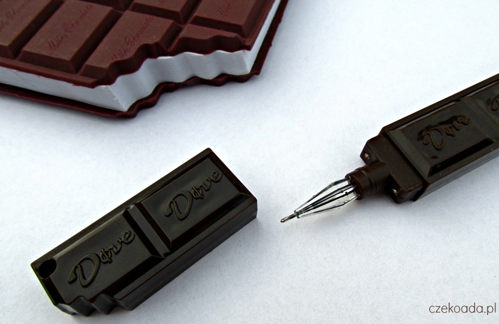 czekoladowy długopis