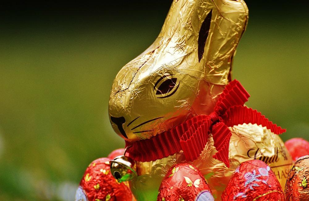 zając figurka z czekolady