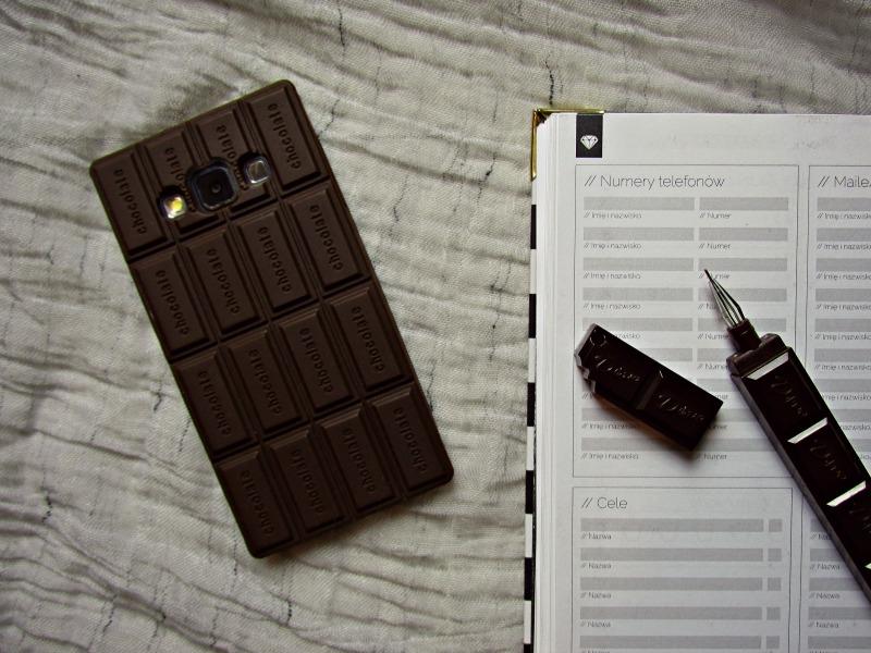 obudowa na telefon tabliczka czekolady