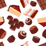 czekoladowe fototapety