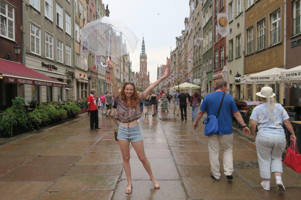 deszczowy dzień w Gdańsku